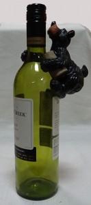 Bear wine bottle hanger