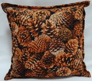 Balsam filled pillow with pinecone design