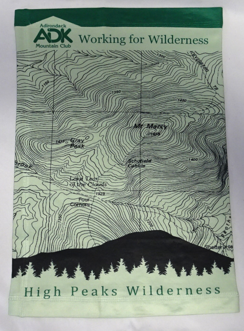 image of neck gaiter with topo map design