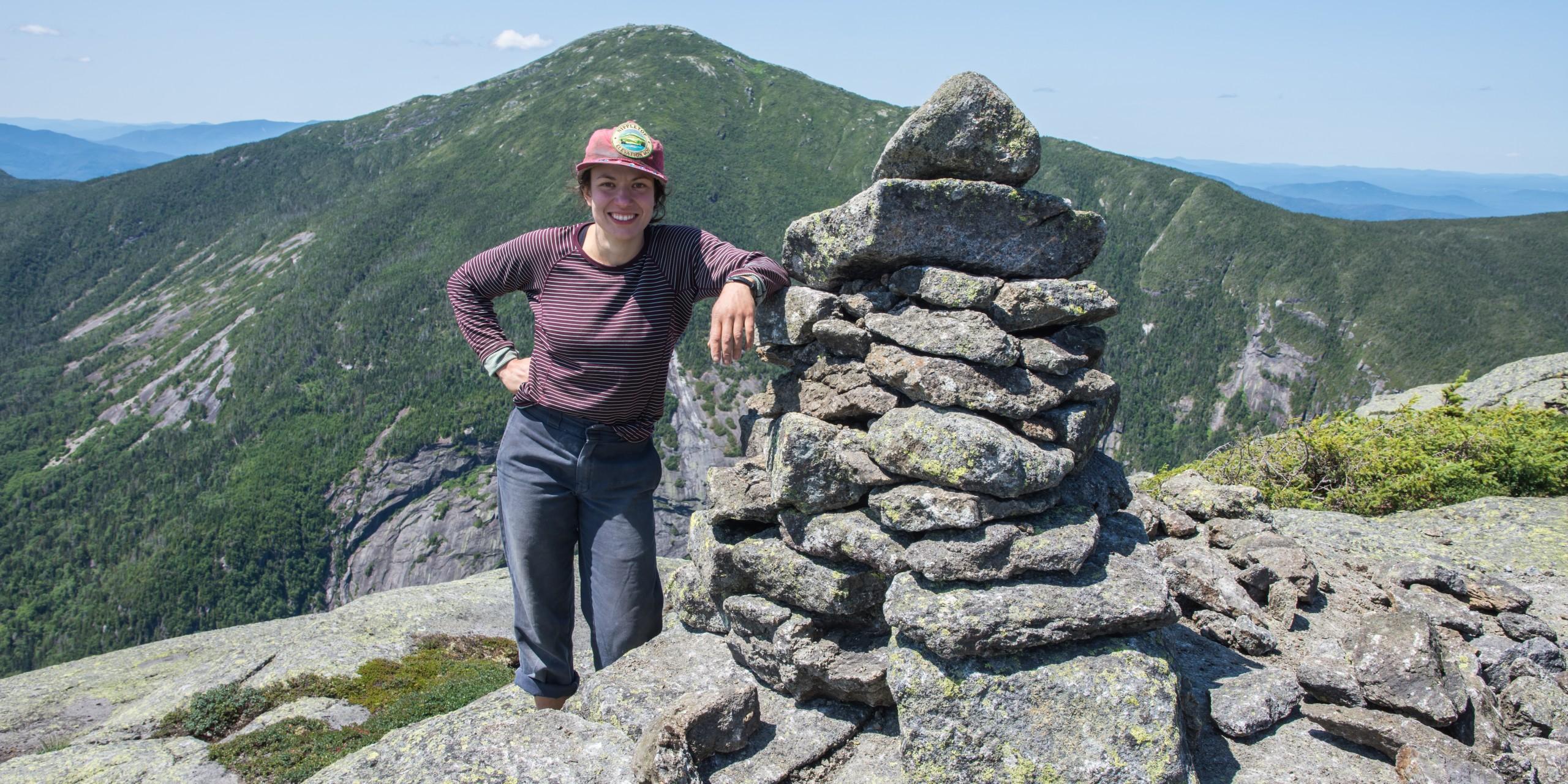 Trail worker on a summit