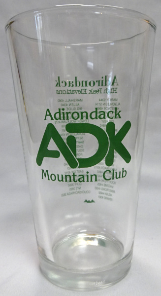 Image of pint glass with ADK logo