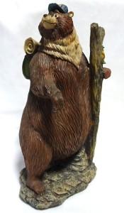 Image of brown hiking bear figurine
