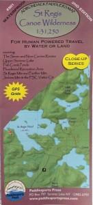 Image of St. Regis Wilderness Canoe Map