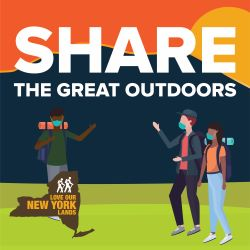 Share the Great Outdoors graphic from DEC Love Our NY Lands campaign