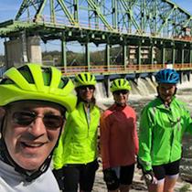 Lynn Butterworth and John Rendarino, 55 mile riders with friends